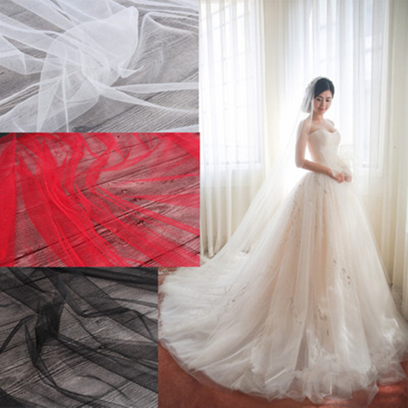 100x165cm/Piece Transparent Wedding Dress Gauze Senior