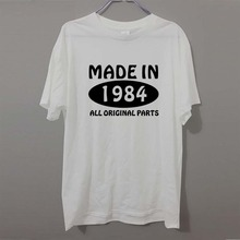 Made In 1984 All Original Parts 41st Birthday Awesome Humour Funny T Shirt Adult PRINTED