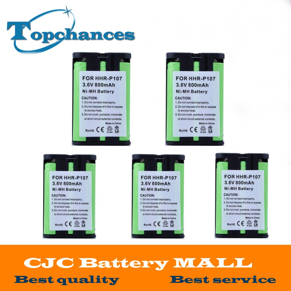 Batteries 5pcs Home Phone Battery 3.6v 800mah Ni-mh For Panasonic Hhr-p107 Hhr-p107a/1b Hhrp107a/1b The Latest Fashion