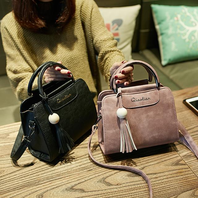 Trendy tassel woman messenger bag, Korean version shoulder bag.