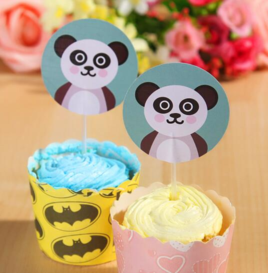 New Sale 30 Pcs Cute Panda Cupcake Topper Cake Accessories Kids