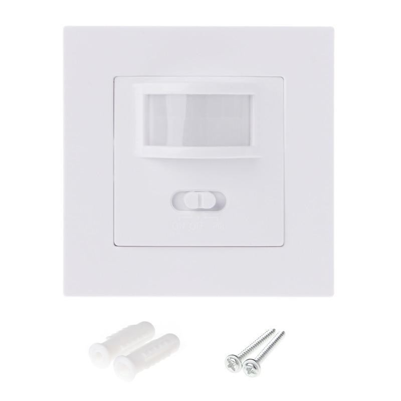 1 Set AC 110V-240V Infrared PIR Motion Sensor Recessed Wall Module Light Switch Adjustable