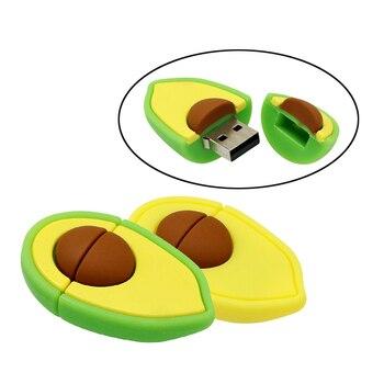 Cute Fruit Avocado Usb Flash Drive Nut Pen Drive 4GB 8GB 16GB 32GB 64GB Flash Memory Stick Storage Pendrive U Disk Mini Gifts цена 2017