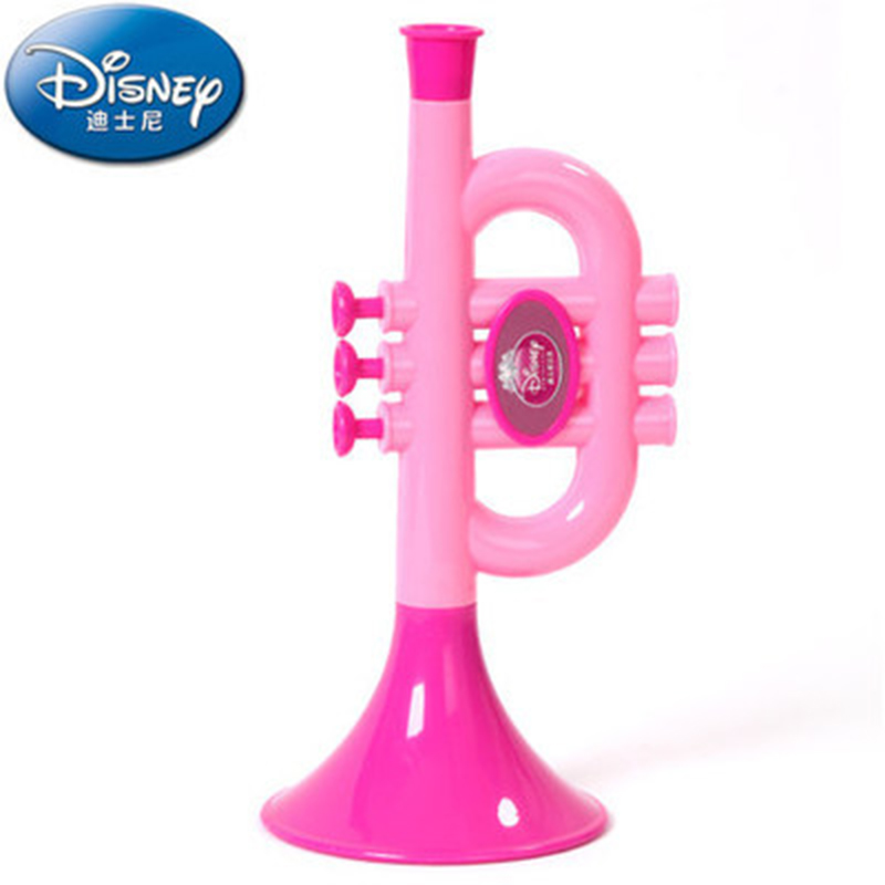 Disney Toys For Children Baby Cartoon Trumpet Baby Playing Musical Instrument Baby Early Education Puzzle Music Toy Gift