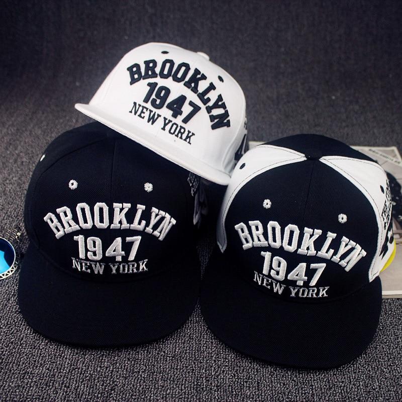 Casquette de Baseball Style Brooklyn | Chapeaux de Style York, casquettes Hip-hop à la mode 1947