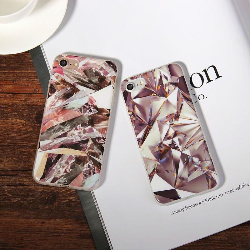 Мода diamond Мягкие резиновые ТПУ чехол для телефона Iphone 5, 5S, se, 6,6 S, 7,7 плюс мягкий свет анти стук мобильного телефона защитный чехол