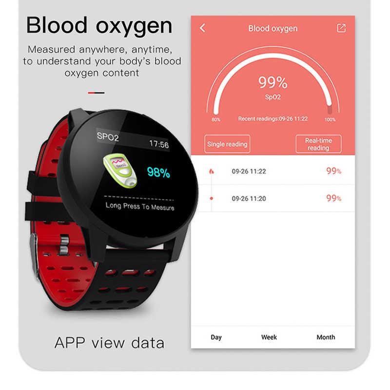 2019 ใหม่กีฬานาฬิกาความดันโลหิต Heart Rate กีฬาโหมดสมาร์ทนาฬิกาผู้ชายผู้หญิงนาฬิกาฟิตเนสนาฬิกากันน้ำ + กล่อง relogio