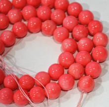 "10 brins bijoux 8mm naturel japon mer rose corail rond perles en vrac 15""(China)"