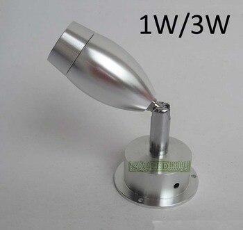 1W/3W Epistar Showcase Jewelry Led Lights Rotatable Head For Display Showcase фото