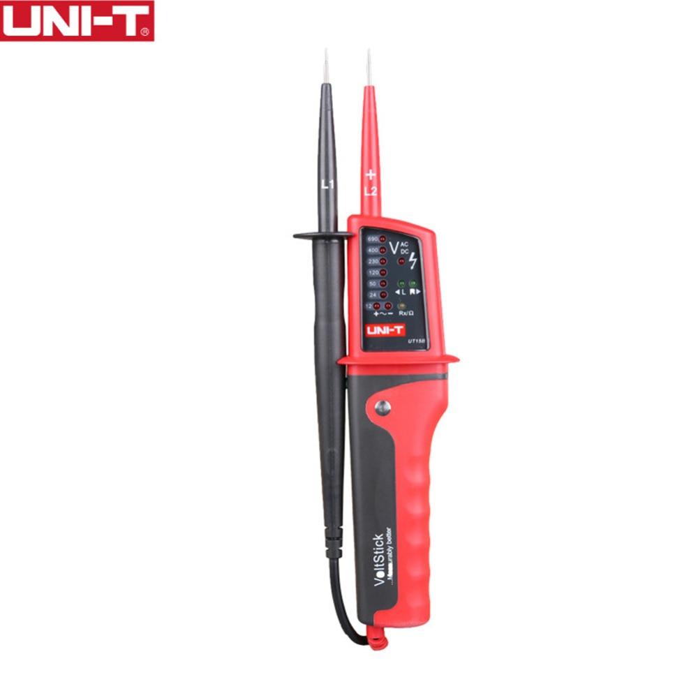 UNI-T UT15B UT15C Водонепроницаемый Многофункциональный светодиодный ЖК-дисплей Авто Диапазон напряжения непрерывности ручка тестер