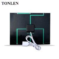 TONLEN 6 V 3 W Epoxi Policristalino Solar Célula Solar Panel DIY Cargador Del Teléfono Móvil 135*165mm Portátil Sunpower Solar Batería