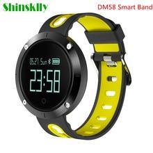 Новый dm58 Смарт-часы IP68 Водонепроницаемый сердечного ритма трекер Приборы для измерения артериального давления Фитнес Tracker спортивные часы для IOS телефонах Android