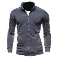 New Plain Basic Hoodies Autumn Spring Mens Sweatshirt Zip Up Jacket Casual Long Sleeve Slim Fit