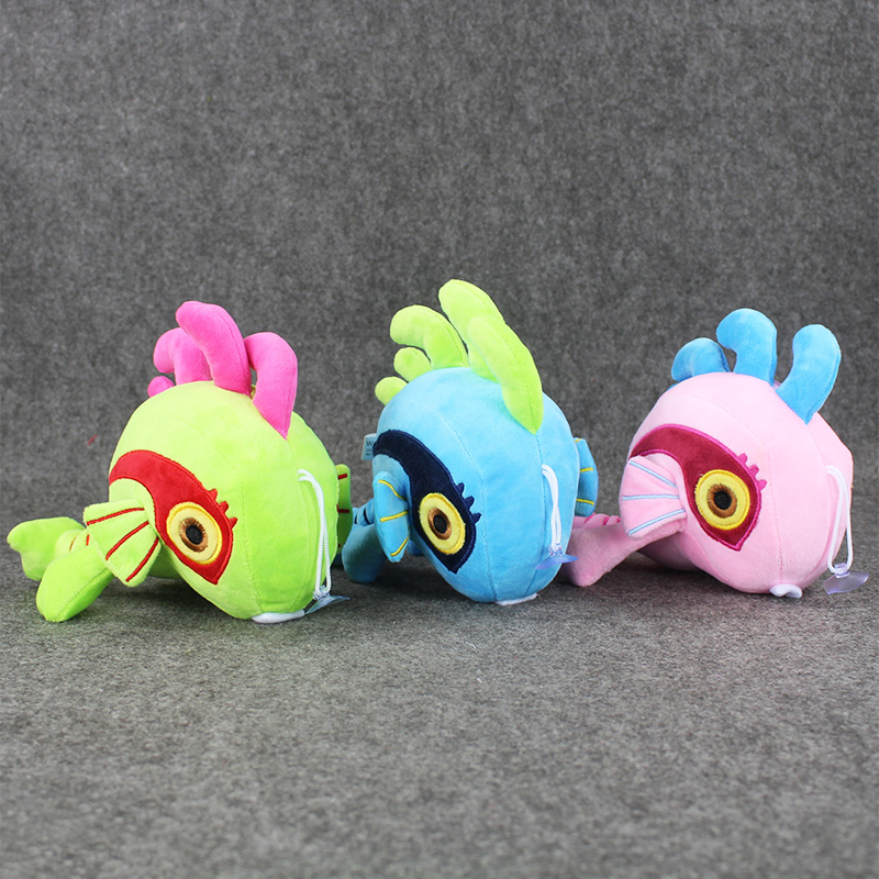 16cm 3Styles Hot Game Lovely Murloc Plush Doll Toys Soft Stuffed Animals Plush with Sucker Collectible