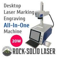 Desktop Portable 20W All In One Fiber Laser Marking Engraving Machine DIY Laser Marker for Metal Plastic Wood Material Wholesale