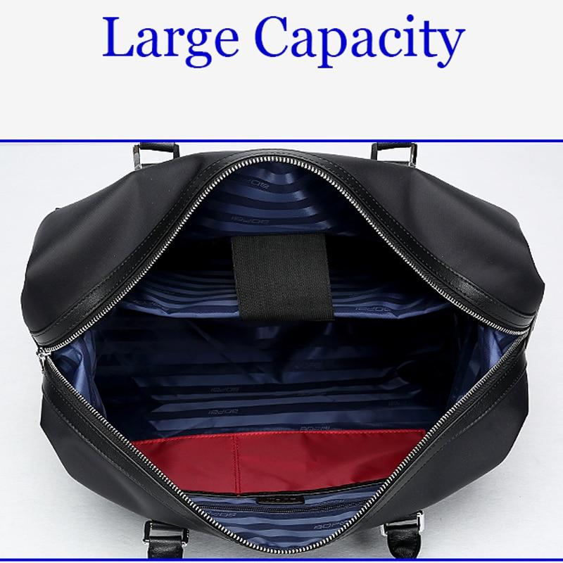 BOPAI Nylon Leather Women Travelling Shoulder Bag Men Large Capacity Travel Bag Hand Luggage Bag Waterproof Travel Tote duffles