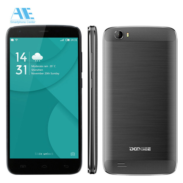 Original DOOGEE T6 Pro Android 6.0 Cell Phone 5.5 inch MT6753 Octa Core Mobile Phone 3G RAM 32G ROM 6250 mAh Unlocked Smartphone