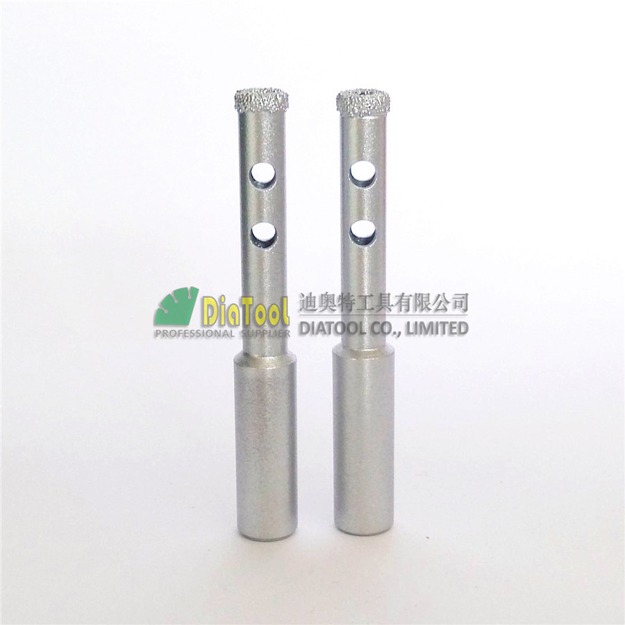 DIATOOL 2pcs Dia 8mm Professional Quality Vacuum Brazed Diamond Core Bits Round Shank Dry Or Wet Drilling Bits Diamond Hole Saw