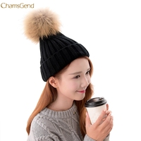 ChamsGend 2017 New Arrival Women Fashion Warm Winter Detachable Hairball Hats Knitted Wool Master Designer Dropship