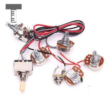 Tooyful High Quality 1Pc Electric Guitar Wiring Harness Kit 2V2T Pot Jack 3 Way Switch for Les Paul Electric LP Guitar Parts  sc 1 st  AliExpress.com : electric guitar jack wiring - yogabreezes.com