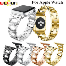 For Apple Watch Band 42mm Black Rose Gold Stainless Steel Bracelet Buckle Strap Clip Adapter for Apple Watchband 38mm for Watch цена