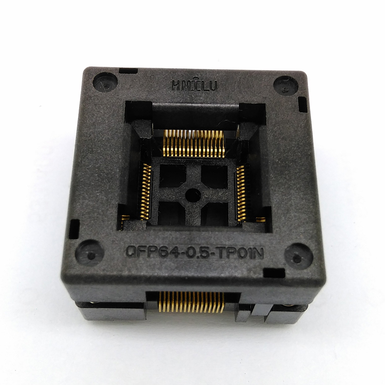 QFP64 TQFP64 LQFP64 Open top Structure Burn in Socket Pitch 0.5mm FPQ-64-0.5-06 Test Flash Programming Adapter tqfp64 ucos dedicated programming block zy501a burning test adapter adapter