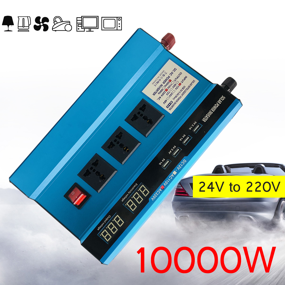 Voltage Transformer PEAK 10000W Car Solar Power Inverter