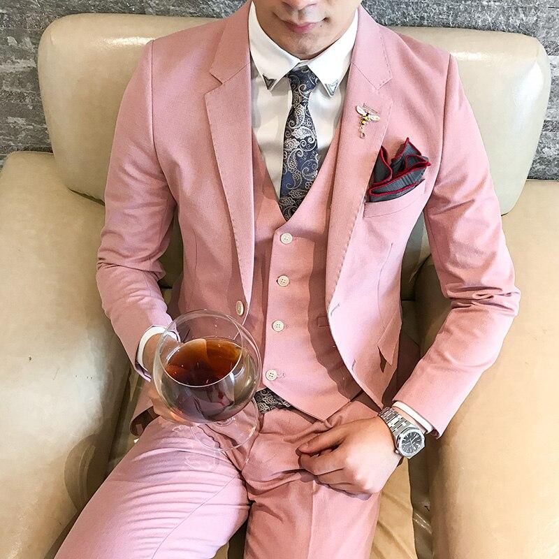 Vestido de fiesta para hombre Pink Tuxedo brillante Rosa prom trajes ...