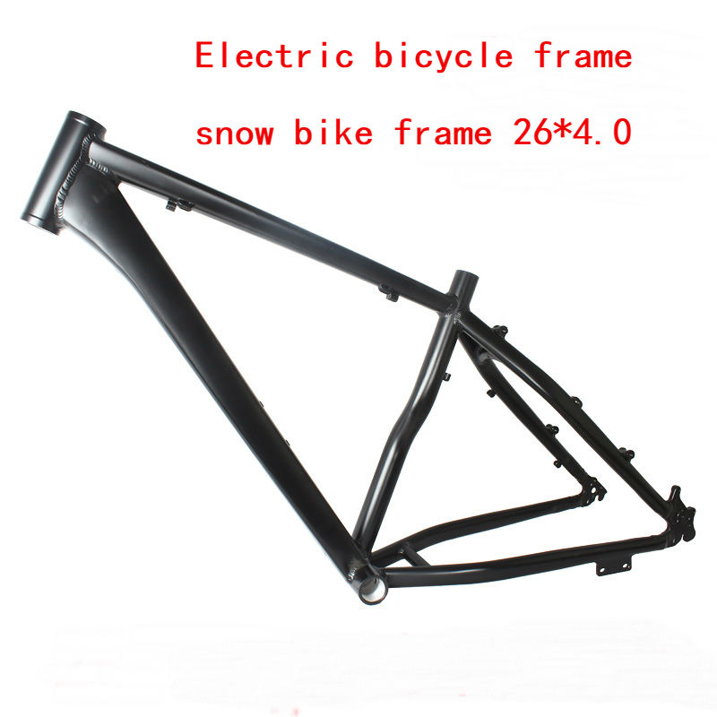 Free Shipping 2019 26*18 Inch Snow Bike E-bike Frame Aluminium Alloy Fat Bike Frame 26er  E-bike Frameset Carbon Fat Bike Frame