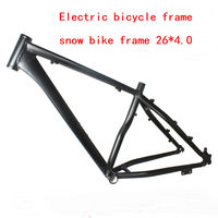 free shipping 2019 26*18 inch snow bike E bike frame Aluminium alloy fat bike frame 26er E bike frameset carbon fat bike frame