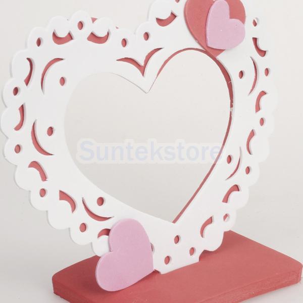SPMART 6pcs Eva Foam Heart Photo Frame Craft Kit-in Frame from Home ...