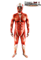 2017 Attack On Titan Cosplay Shingeki No Kyojin Cosplay Colossal Tights Muscle Man Halloween Costumes For Men Adult Zentai