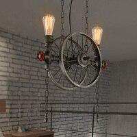 Чердак старинные промышленного водопровод подвесные светильники. Колеса образный эдисон светильник деко инженерной Droplight