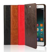 Deluxe Wallet Case For Xiaomi Mi Note Genuine Cow Leather Case Mi Note Magnetic Flip Cover