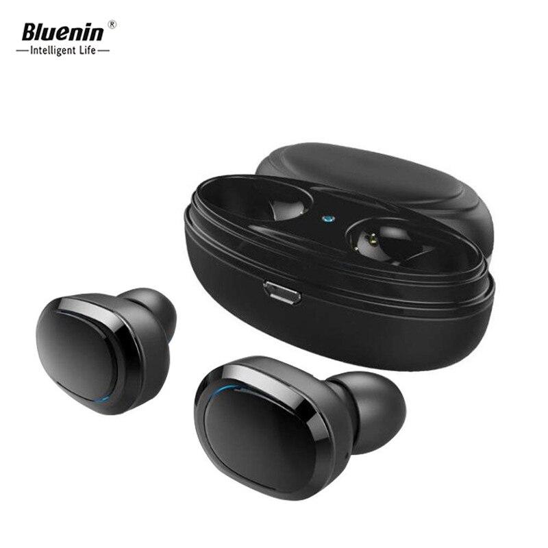 Bluenin T12 TWS Sans Fil Bluetooth Écouteur Mini Bluetooth V4.1 Casque Sans Fil Écouteurs avec cas de charge pour iphone x xiomi