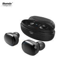Bluenin T12 TWS Wireless Bluetooth Earphone Mini Bluetooth V4.1 Headset Cordless Earphones with charging case for iphone x xiomi