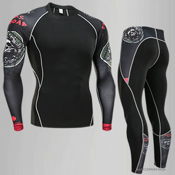2018 de fitness mma compressão camisa masculina rashguard manga longa t camisa crossfit musculação masculino crânio impressão 3d t camisa topos