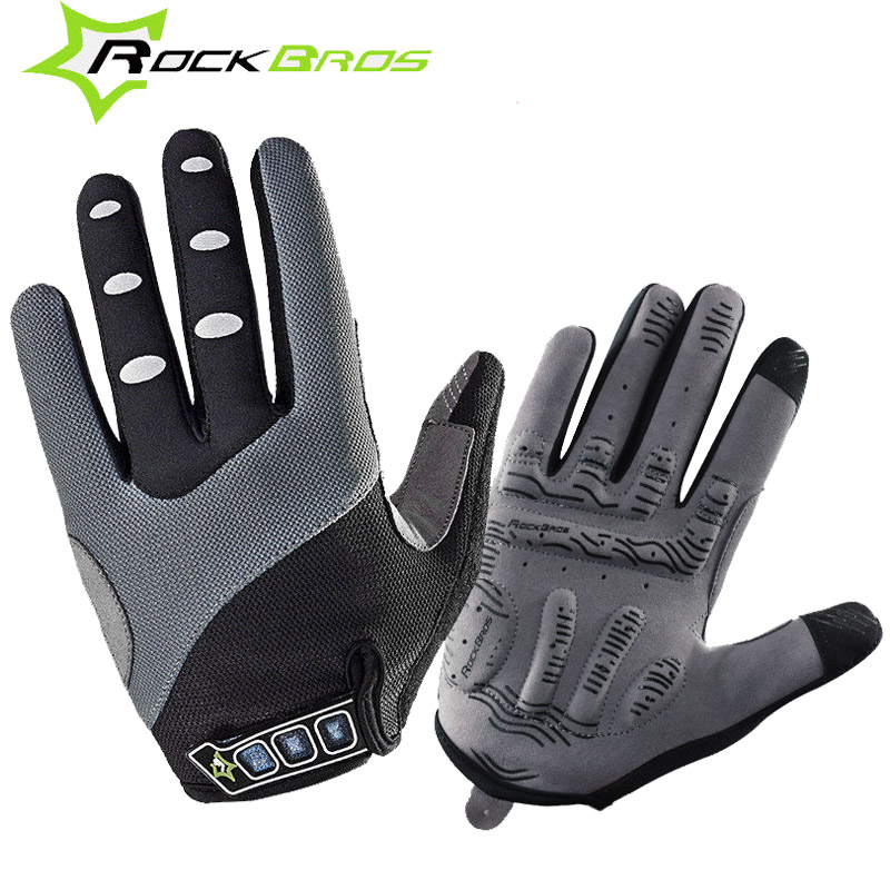 ROCKBROS Winter Cycling font b Gloves b font Gel Touch Screen Mountain Bike Bicycle MTB Guantes