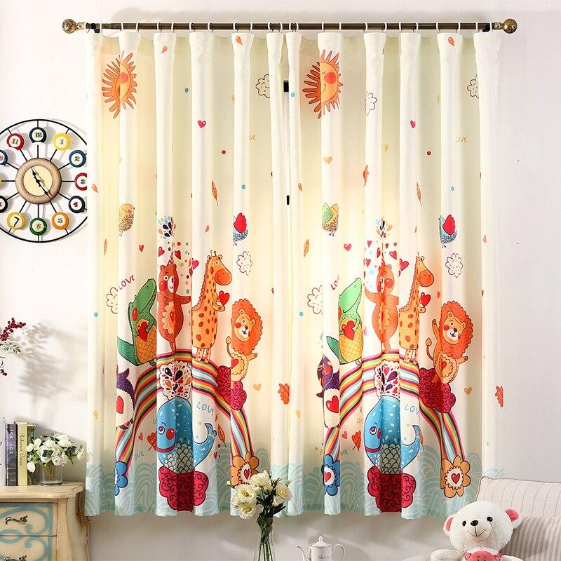 d impreso animal kingdom cortinas para la sala de estar cortinas para el dormitorio beb de la historieta corta nios decoraci
