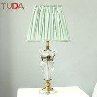 Туда 32X70 см Спальня Настольный светильник Ночной Кристалл Настольная лампа высококлассные европейский тумбочка лампа