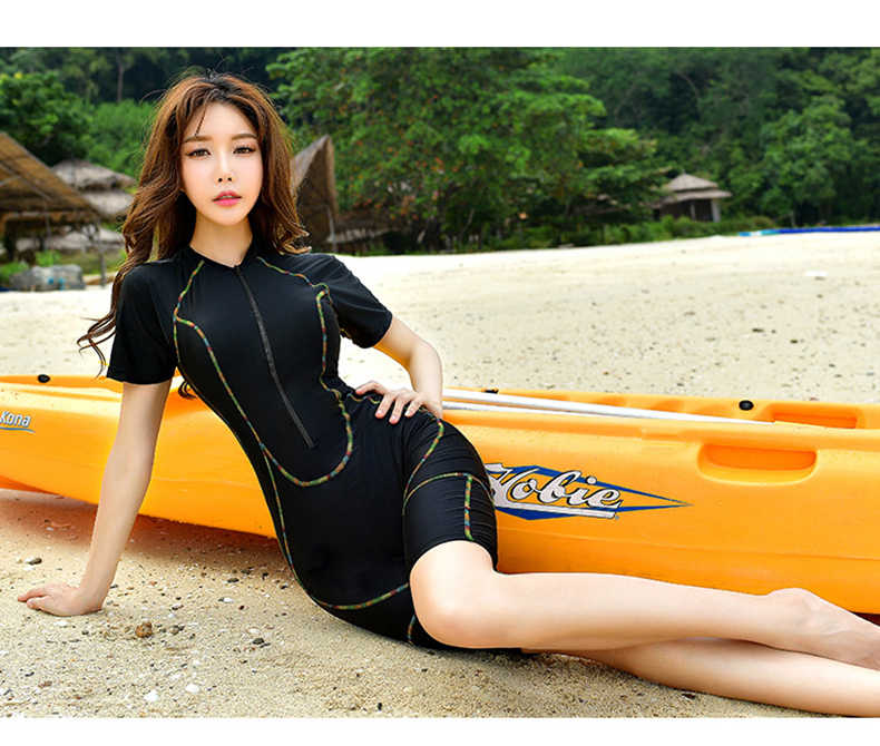 Wanita FINA Kain Lycra Pakaian One-Piece Scuba Diving Baju Renang Plus Ukuran Surfing Wanita Surf Pakaian Neoprene Baju Renang