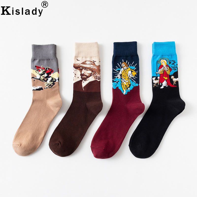 Fire Tigers Images Knee High Socks Casual Stockings Comfortable Novelty Sports Socks Size 6-10 One Pair