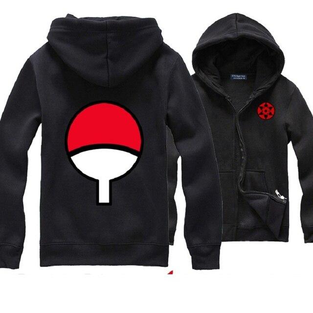 US $57 67 |Japan Anime Naruto Kakashi Hoodies Sweatshirts Sasuke Uchiha  Itachi clothing write round eyes zipper Fashion Jacket Sweatshirts-in  Hoodies