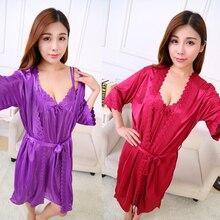 Women Sleepwear Nightgowns Sexy Women's Nightgown Robe Sleepshirts Pyjamas Nightdress Summer Women Bathrobe Night Dress PA-5761