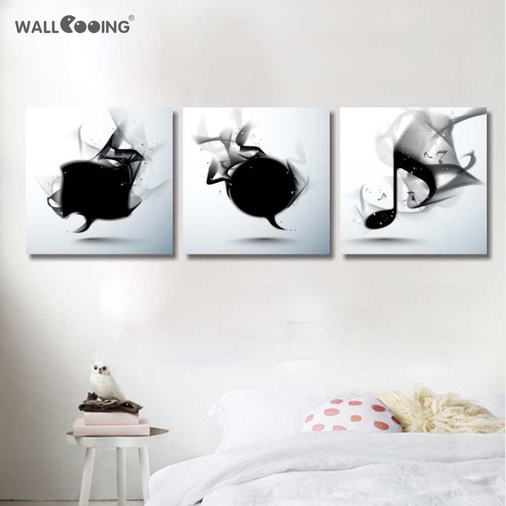 Maleri på lærred tryk blomster soveværelse vægmaleri værelse - Indretning af hjemmet - Foto 3