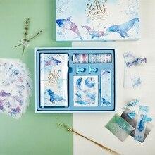 """Seaworld Scrapbooking Gift Pack"" Leuke Dagboek Planner Notebook Stickers Washi Tapes Clips Stationiery Gift"