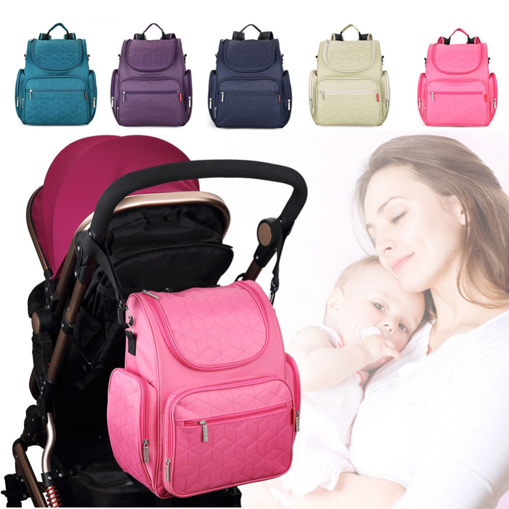 Stylish Diaper Bags Multifunction Waterproof Nappy Bags Large Capacity Baby Diaper Bag Desinger Nursing Bag Backpack Mummy pack 2016 new arrival mummy bags waterproof nappy bags large capacity baby diaper bag multifunction mother shoulder bags handbags