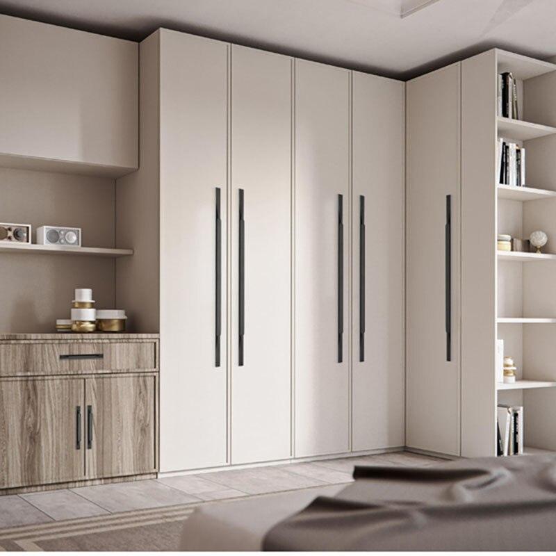 1 pièces Morden armoire poignée noir/or placard bouton tiroir tire armoire porte poignée cuisine chambre meubles accessoire matériel