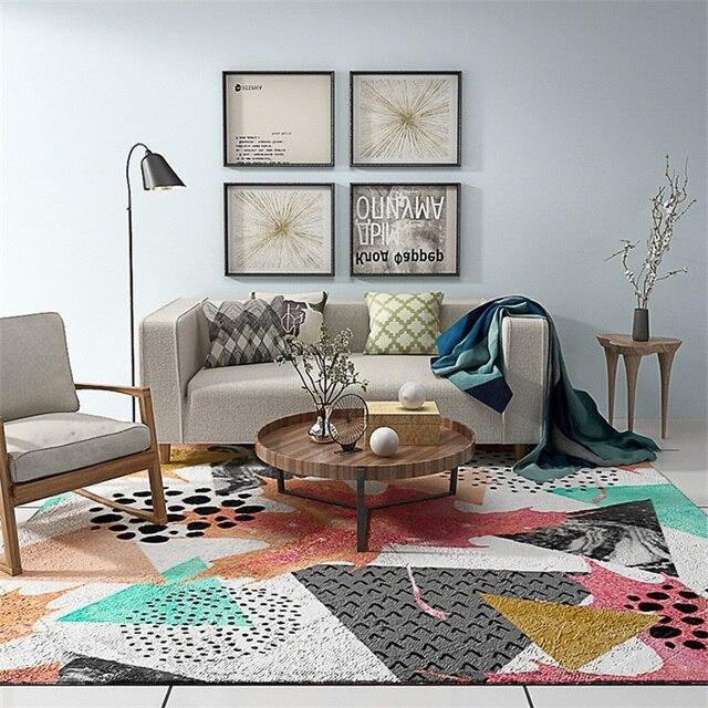 Moderne Mode Individuele Kleurrijke Verf Tekening Parlor Woonkamer ...