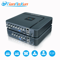 TIANANXUN 1080P 4Channel 8Channel Mini DVR 5in1 For CCTV Kit VGA HDMI Security System 1080N NVR